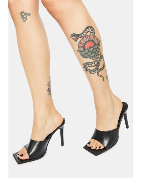 Got A Knack Square Toe Kitten Heels