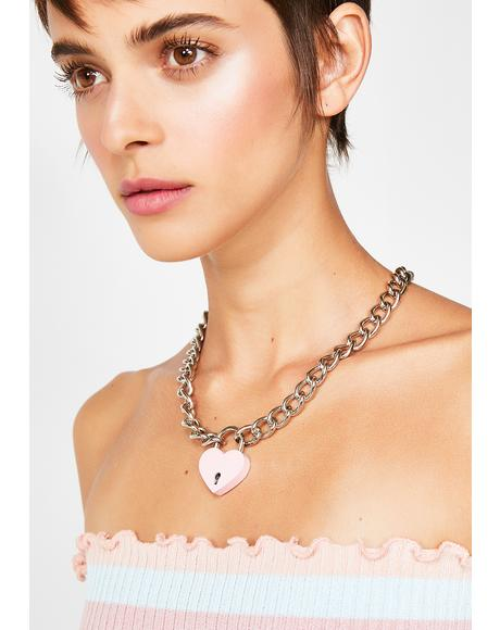 Kawaii Feelz Heart Lock Necklace