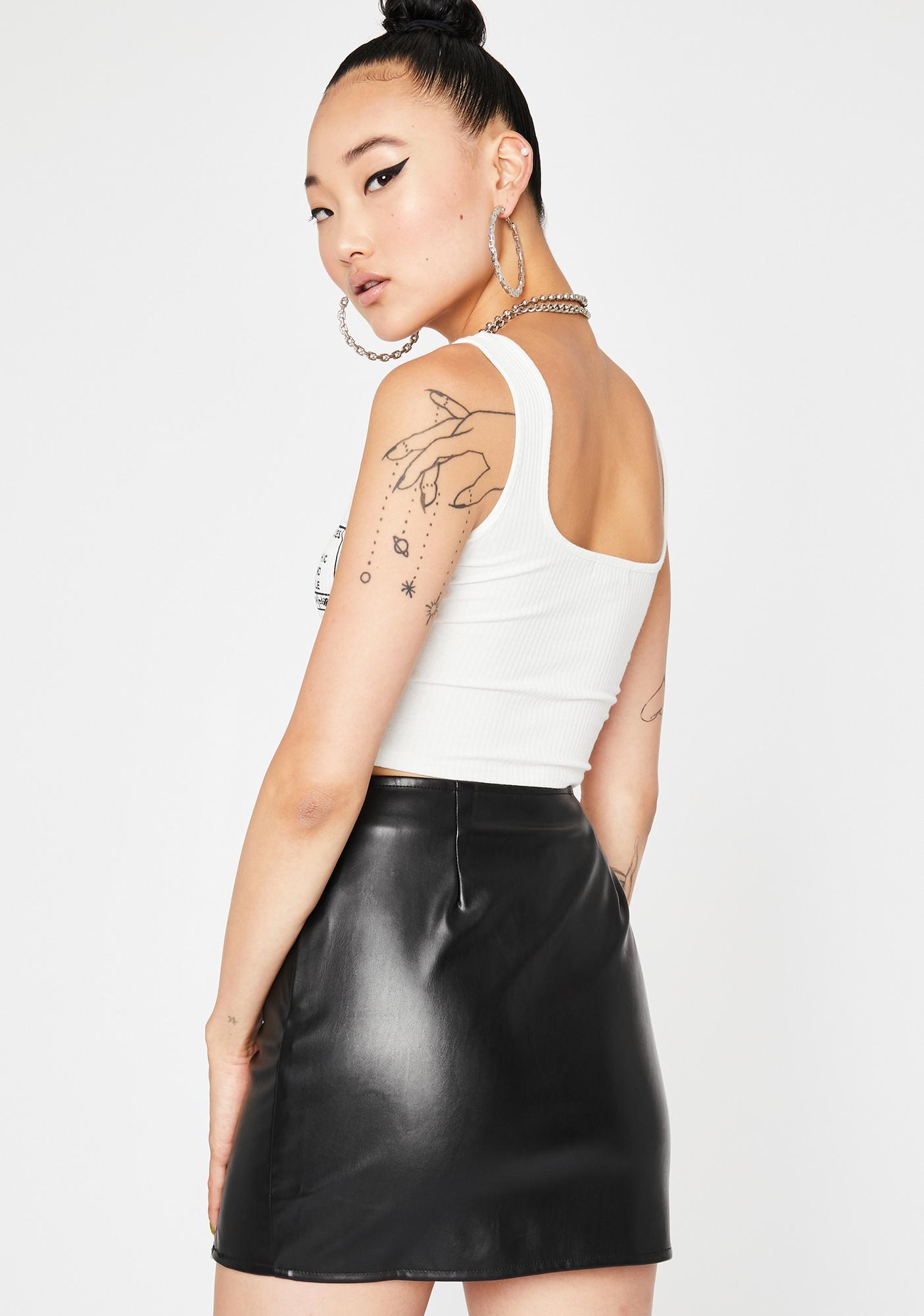 Dark Too Hawt To Touch Mini Skirt
