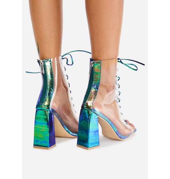 Mermaid Magic Hour Lace Up Heels