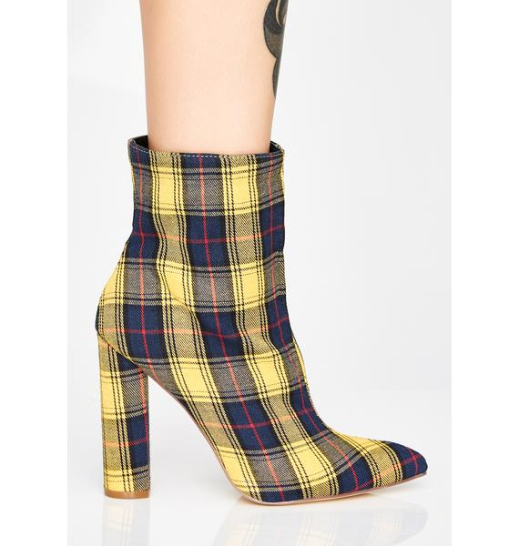 Mellow Pretty In Plaid Booties