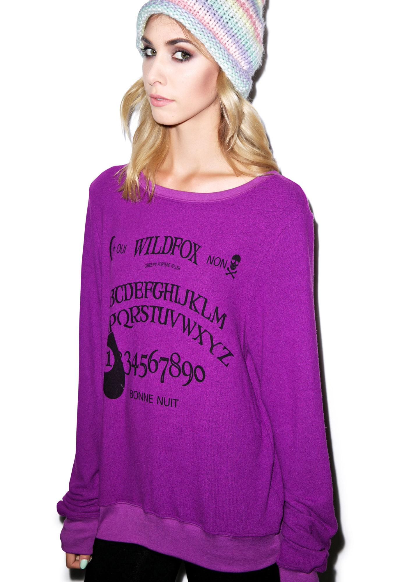 Wildfox Couture Ouija Girl Baggy Beach Jumper