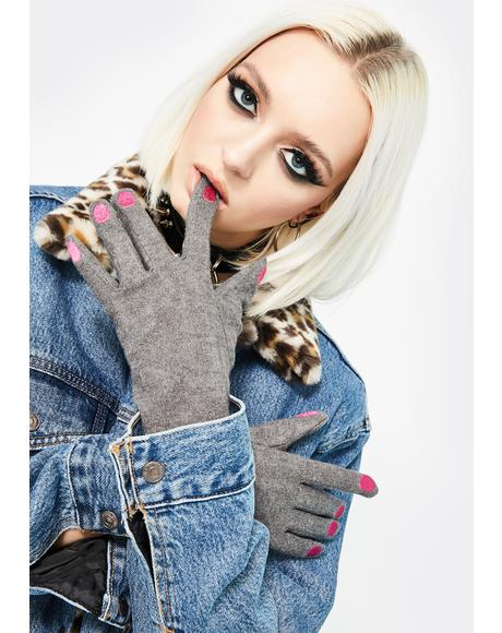 Stoned Nails Before Males Knit Gloves