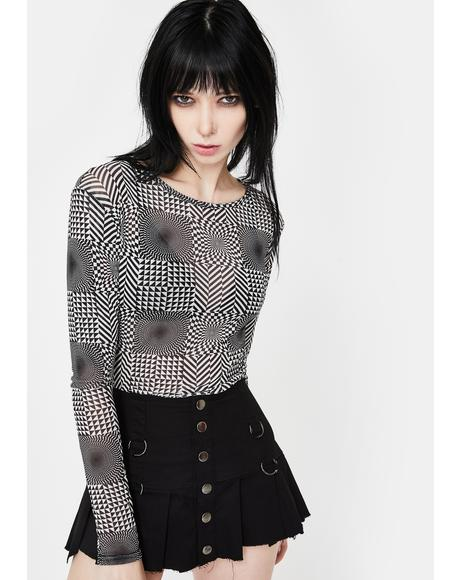 Illusion Mesh Top