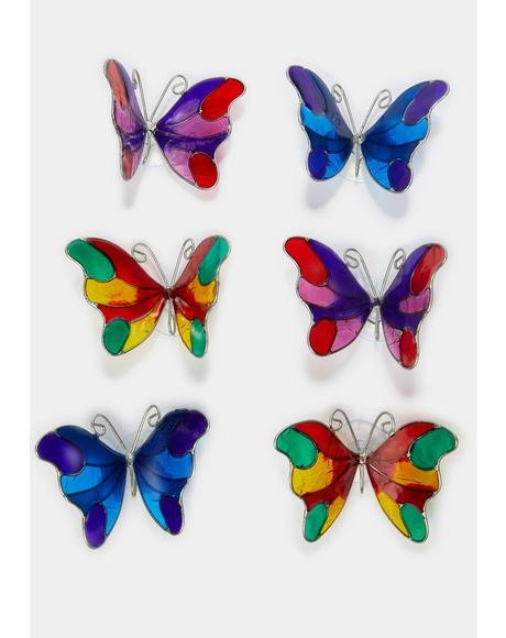 Ride The Light Butterfly Suncatchers