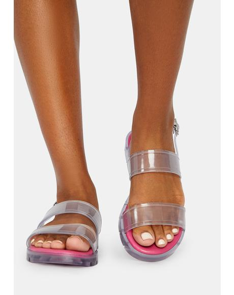 Pink Arlington Jelly Sandals