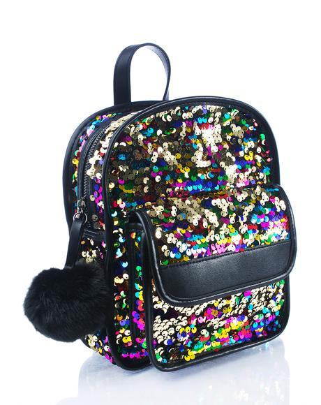 Lulu Sequin Backpack