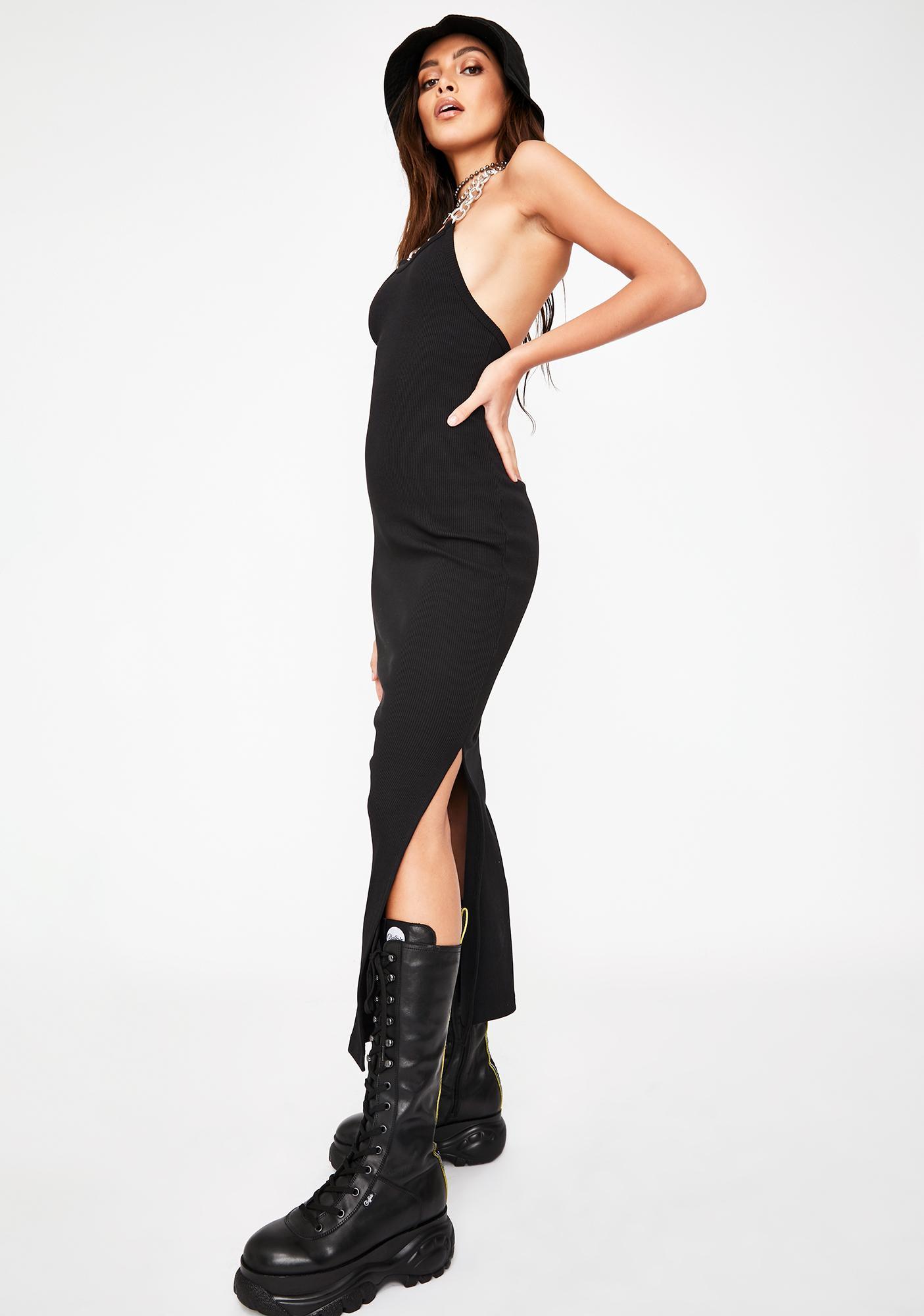The Ragged Priest Strip Chain Midi Dress