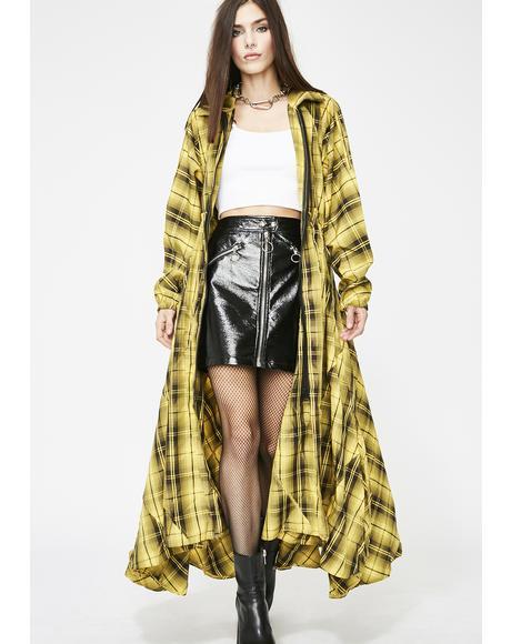 Plaidittude Longline Jacket
