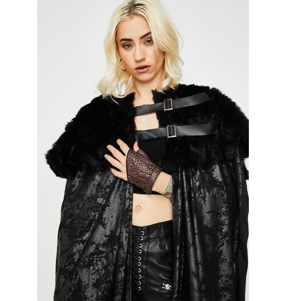Kween Of The North Faux Fur Cloak