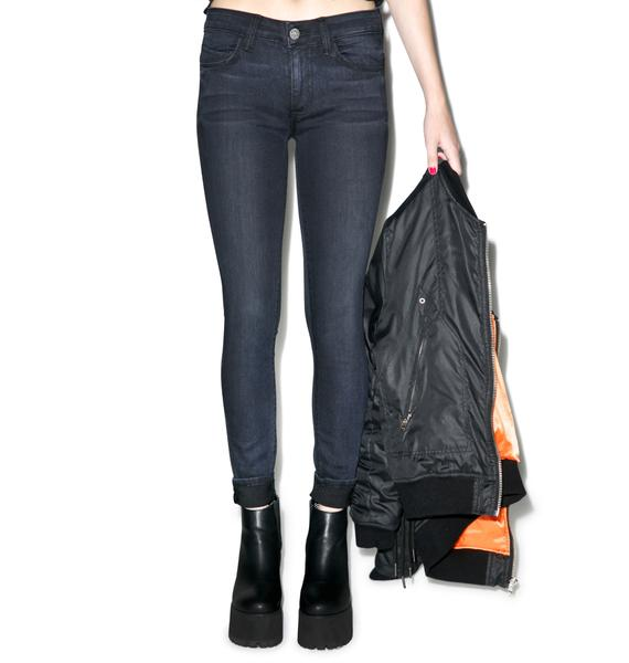SIWY Denim Ladona Bad Moon Rising Slim Crop Jeans