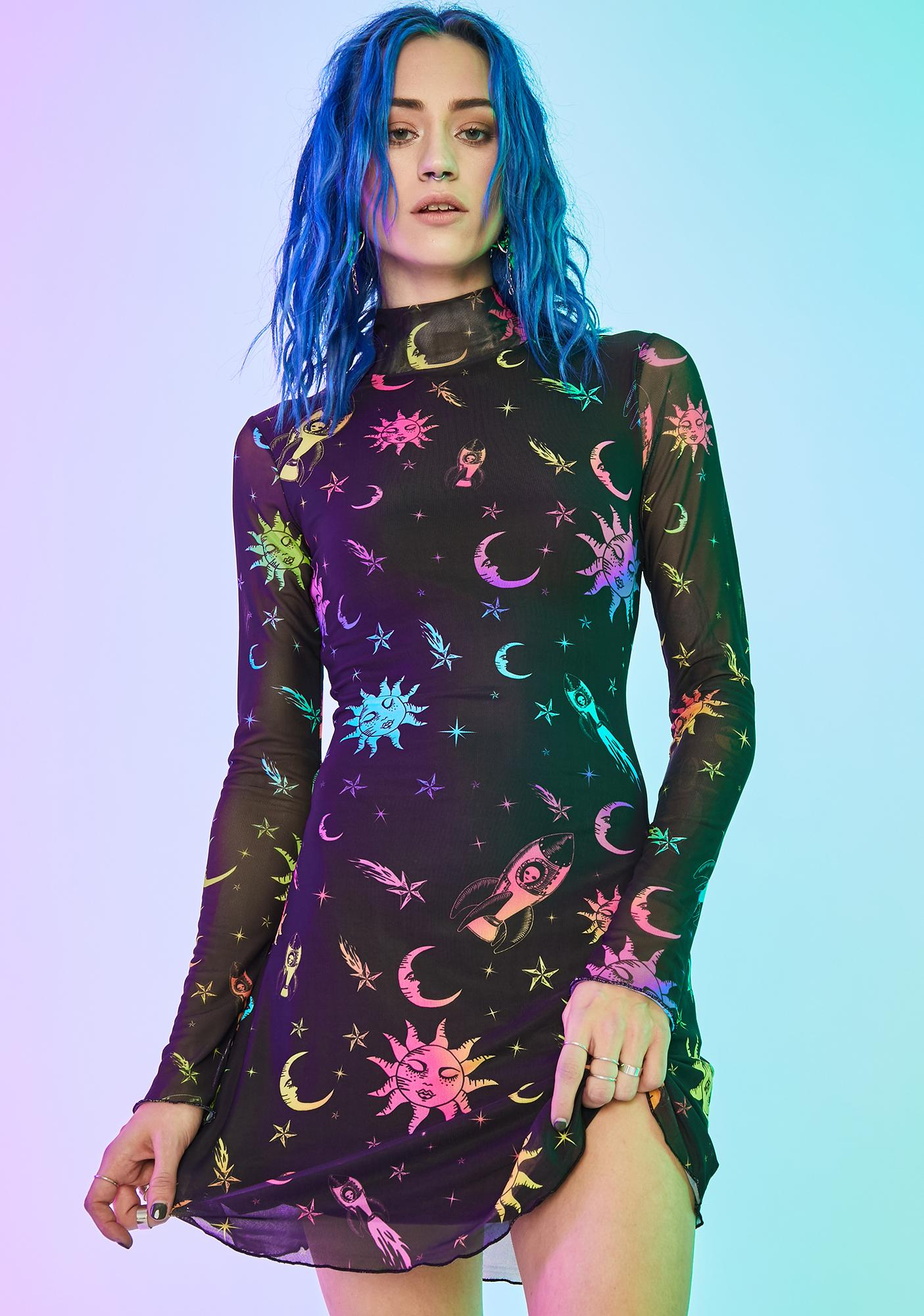 Current Mood Celestial Magic Mesh Dress