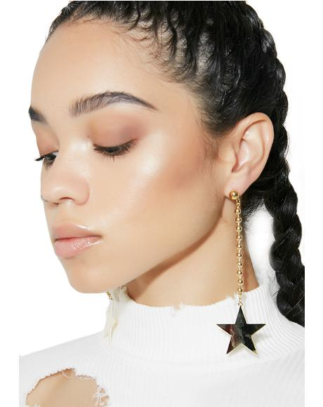 Shining Light Star Drop Earrings