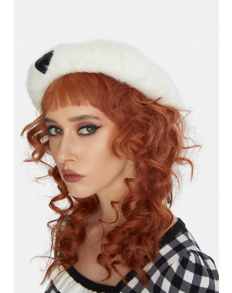 Catch Feelings Heart Fuzzy Beret