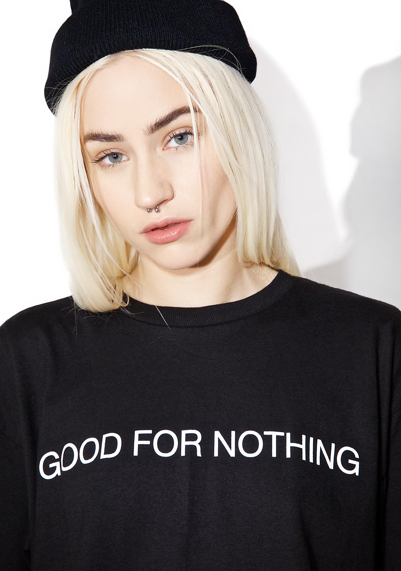 Black Scale Good For Nothing T-Shirt
