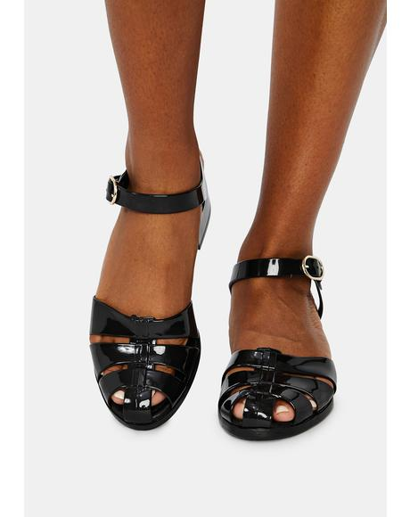 Black Bremerton Jelly Sandals