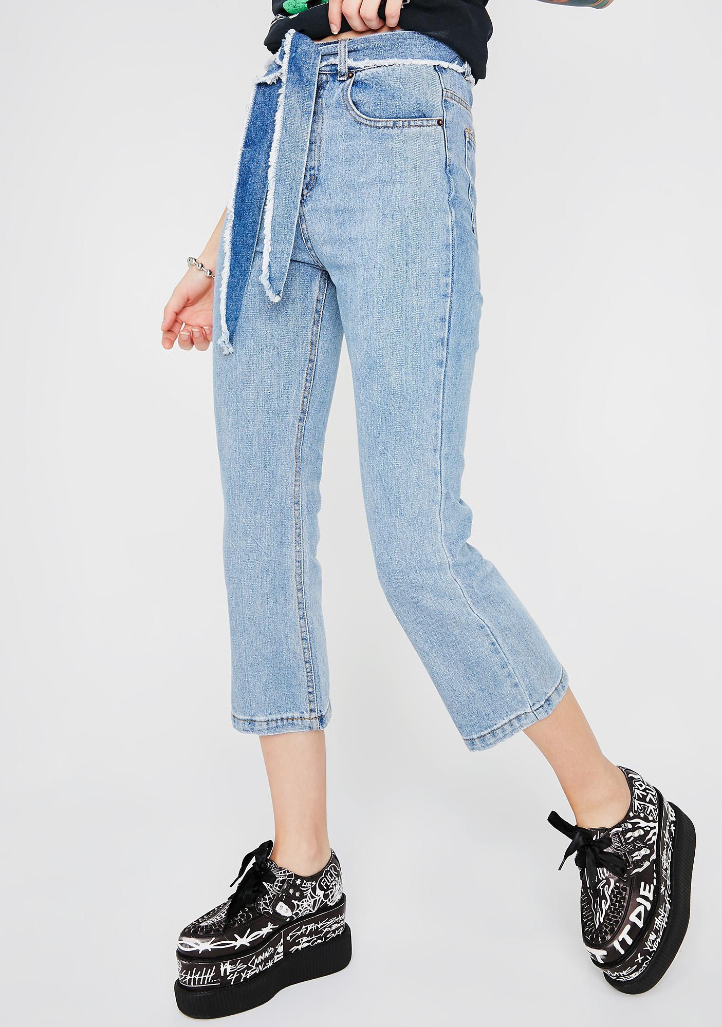 8353f7897131e Belt Crop Denim Jeans   Dolls Kill