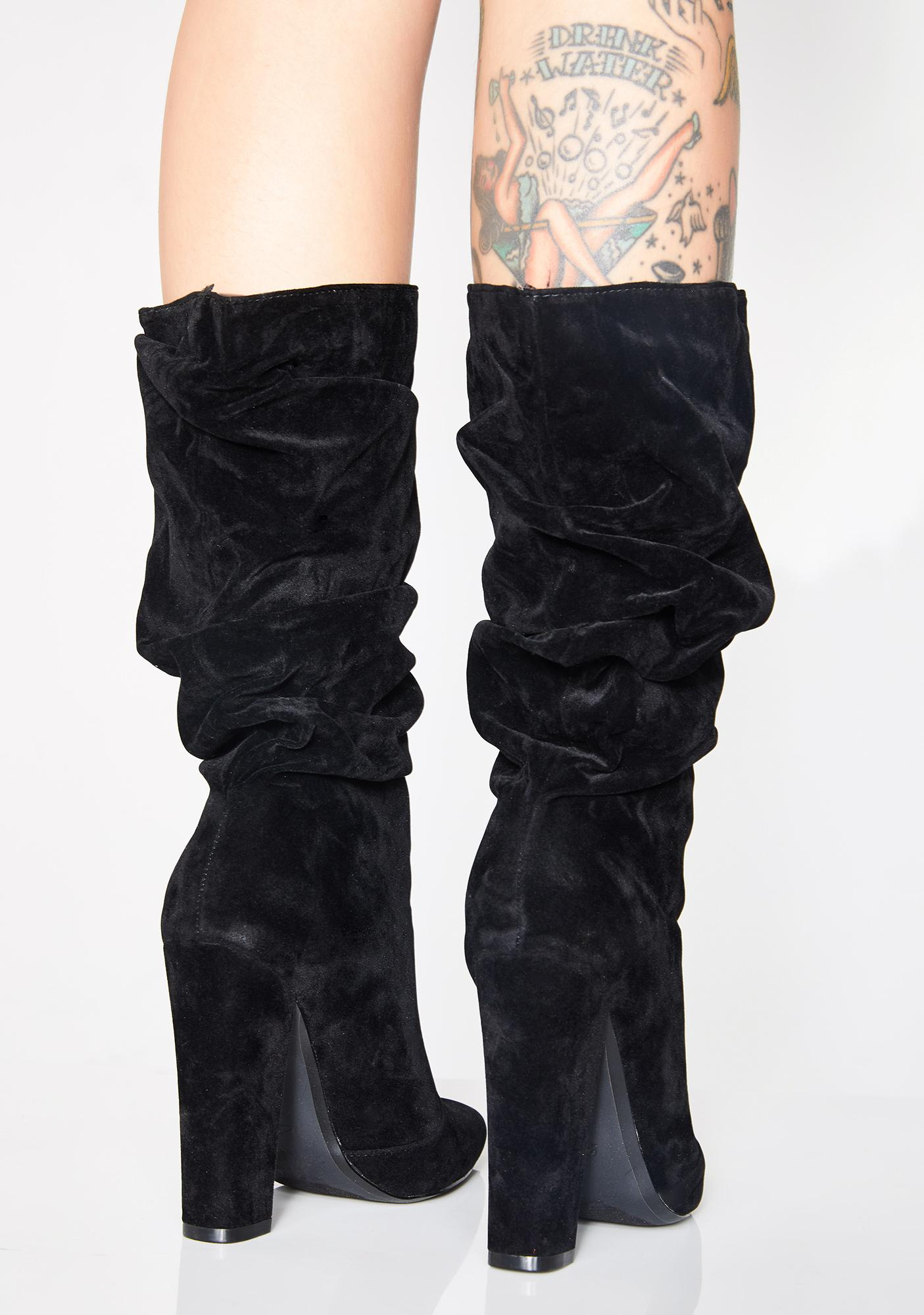 Midnight Chic Posh Slouchy Boots