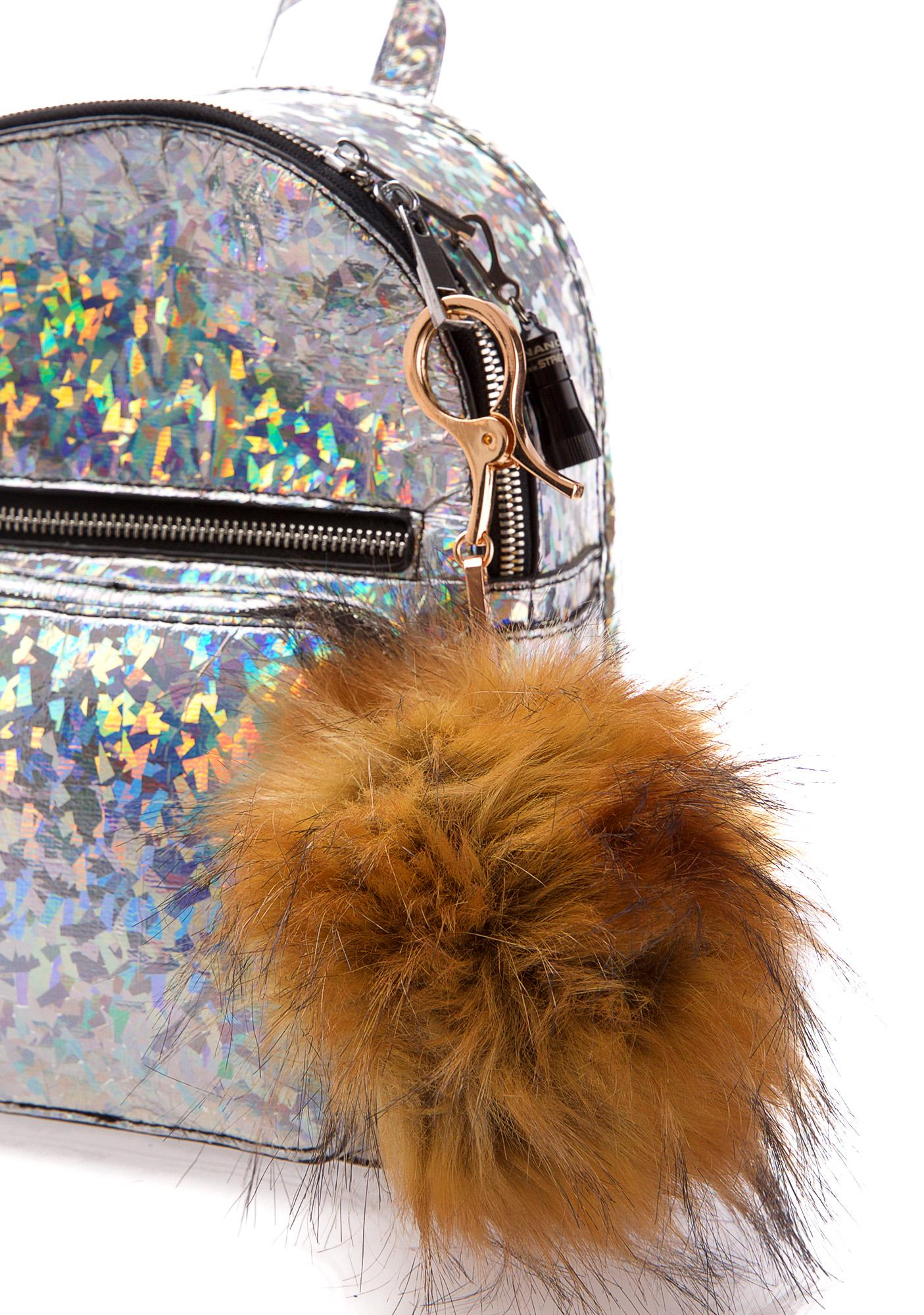 BB Gurl Tan Furry Pom Keychain