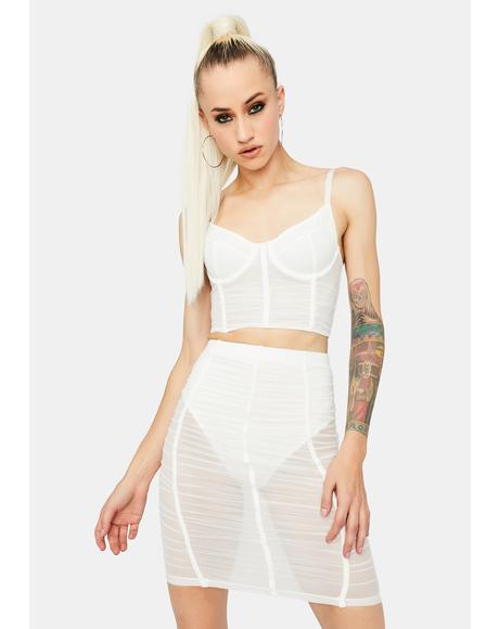 Angel Now U See Me Mesh Skirt Set