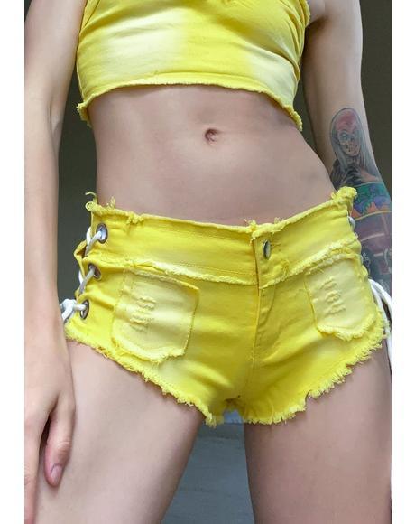 Honey Ride It Shorts Set