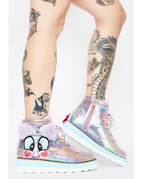 Kitty Walk Iridescent Sneakers