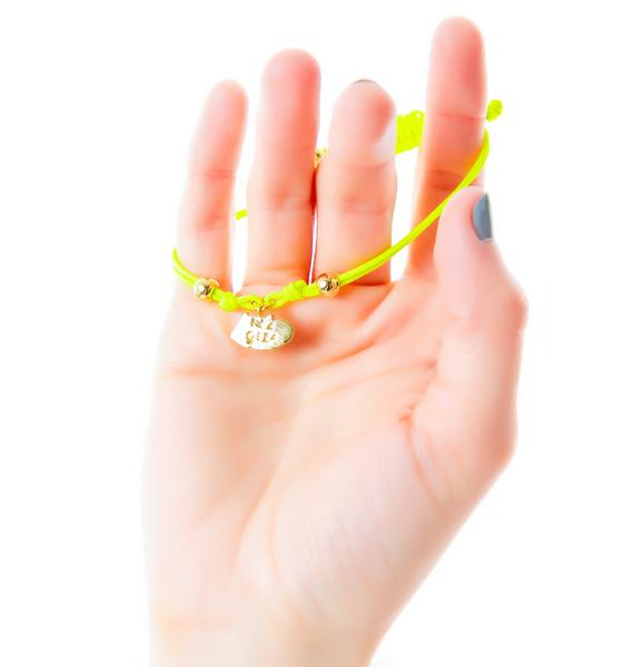Joyrich x Giza 3D Logo Micro Charm Bracelet