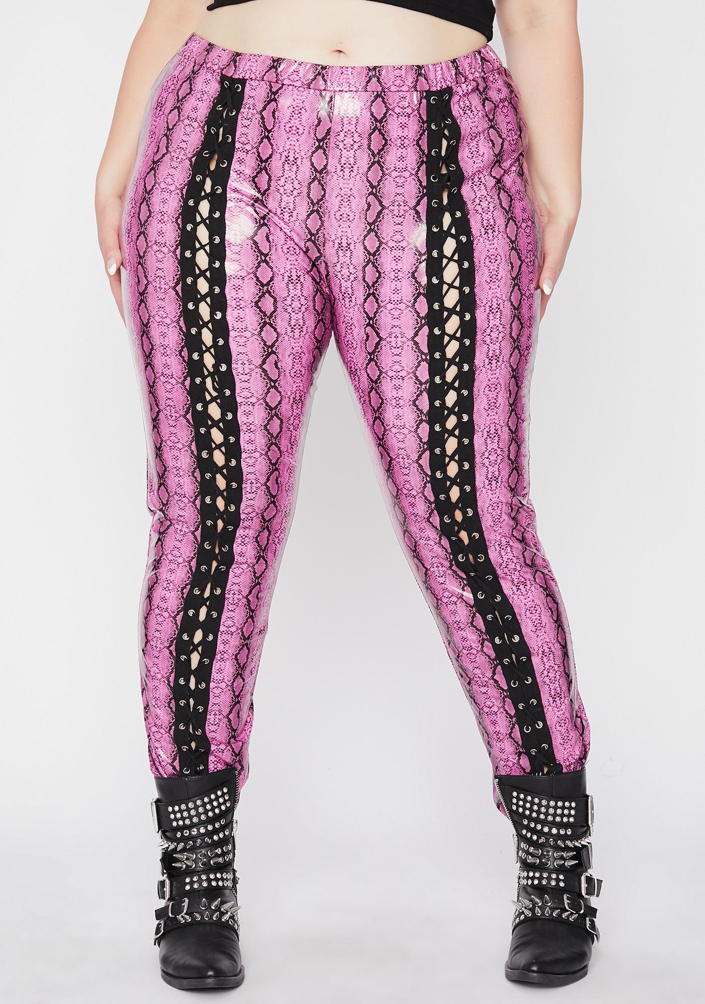 Pretty Lux Extreme Empire Lace Up Pants
