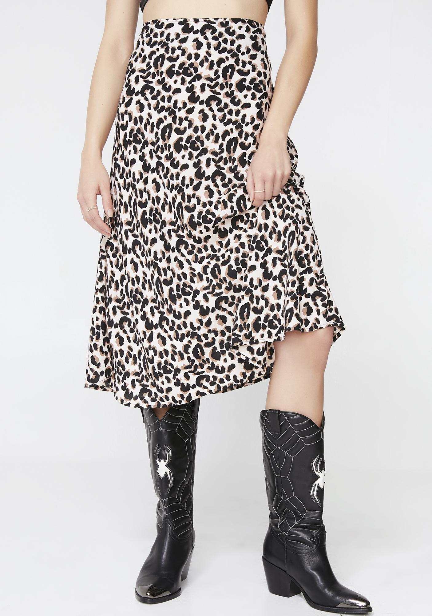 04ccd657da90 Motel Pink Panther Tauri Midi Skirt | Dolls Kill