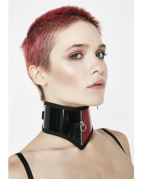 Blood Bath Vinyl Collar