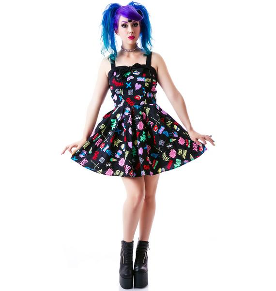 Hell Bunny Horror Gal Mini Dress
