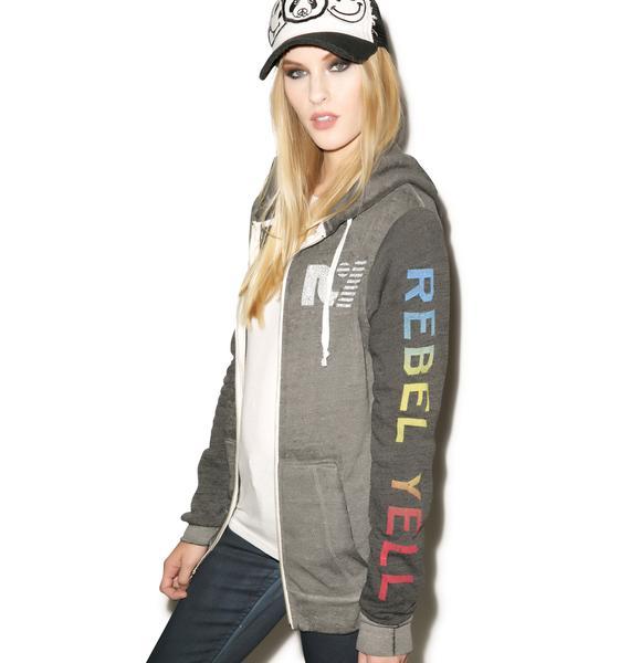 Rebel Yell Rainbow COED Zip Hoodie