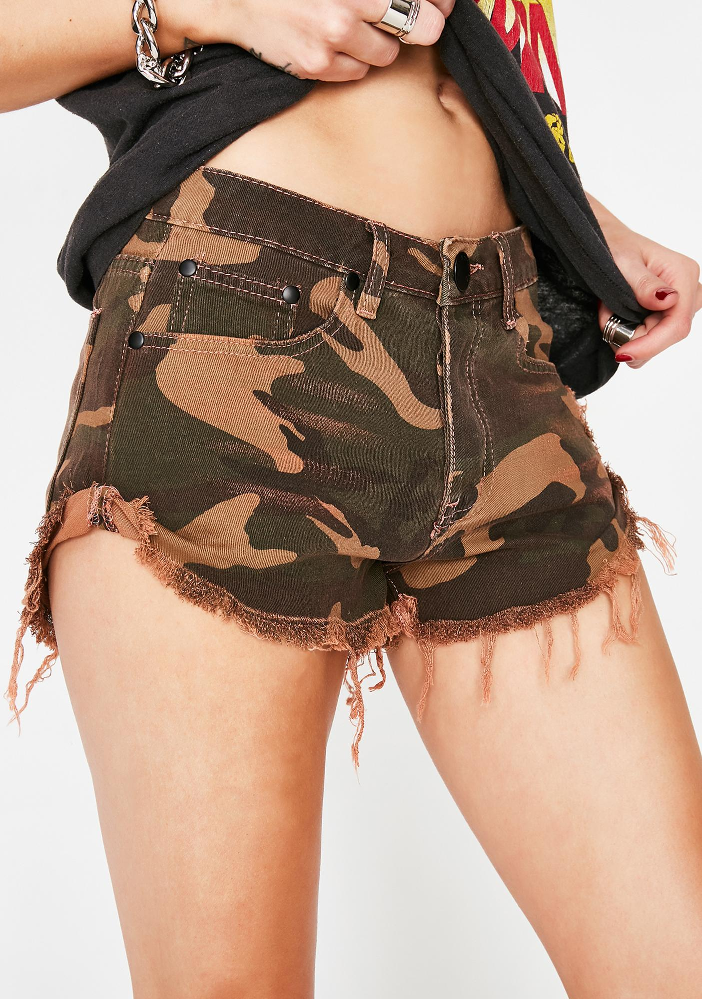 Stay Loaded Camo Shorts