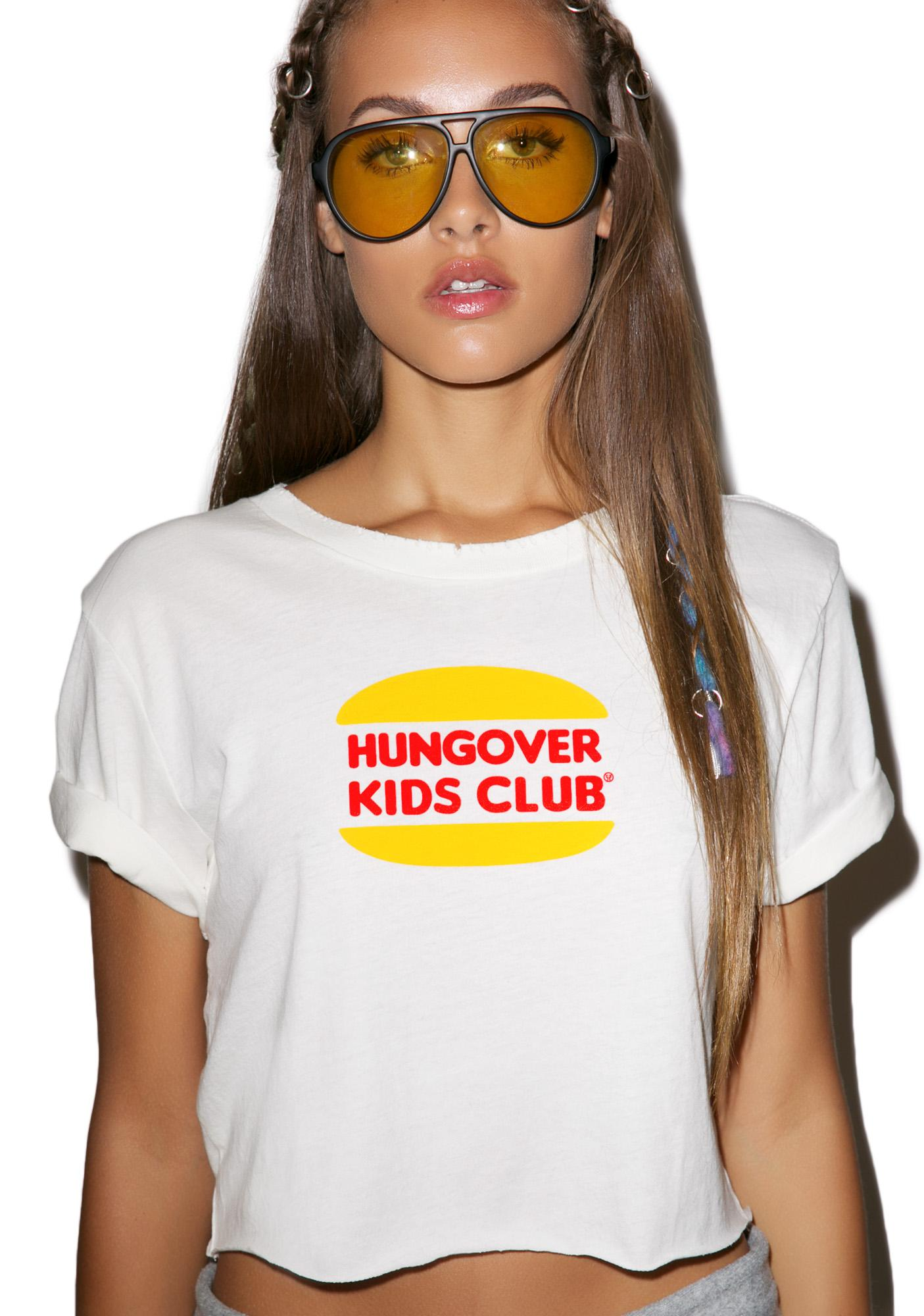 Petals and Peacocks Hungover Kids Club Crop Top