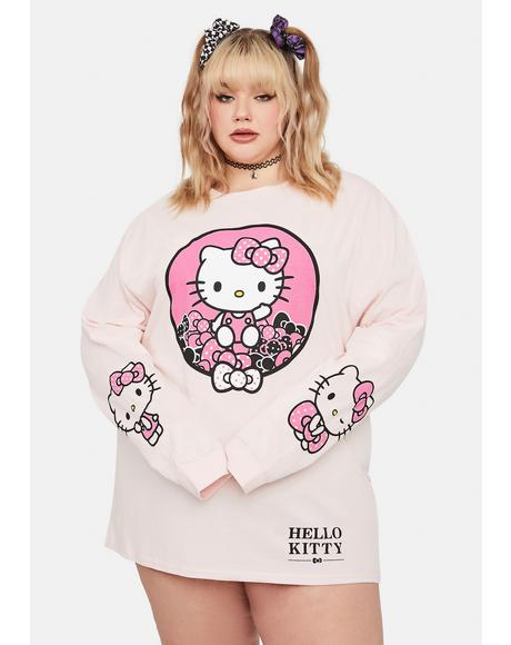 Curve Hello Kitty Graphic Long Sleeve Tee