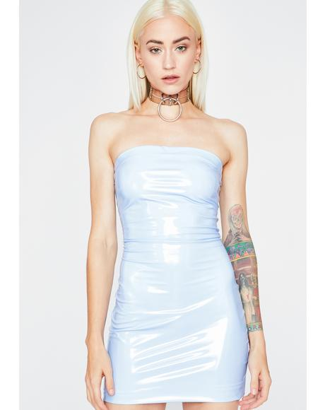 Icy Haute Vinyl Dress