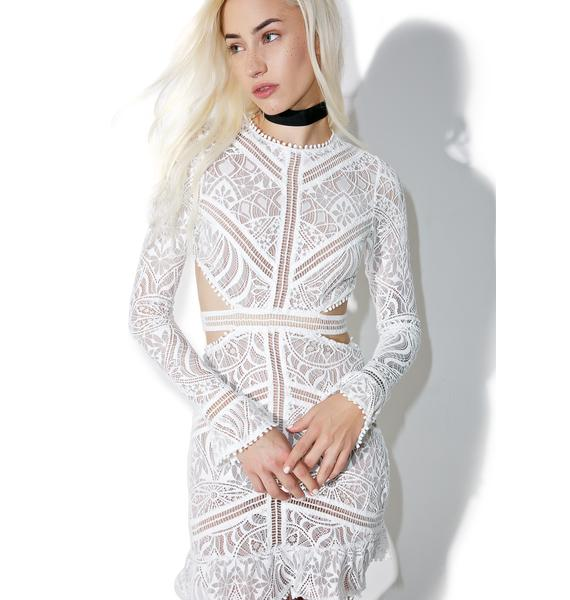 For Love & Lemons Emerie Cut Out Dress
