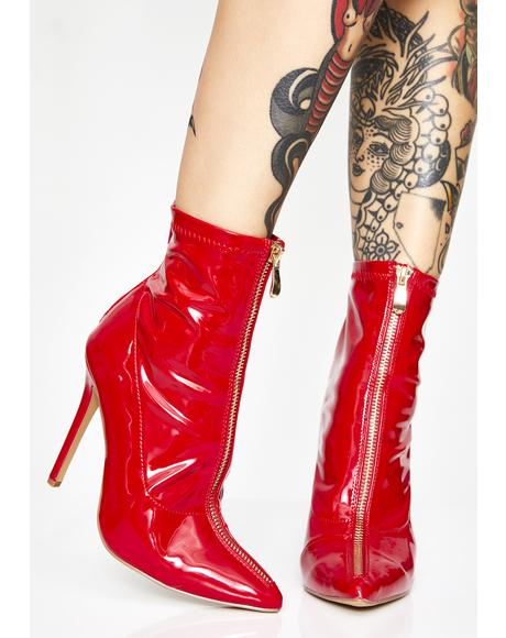 Blazed Bright Lights Patent Boots