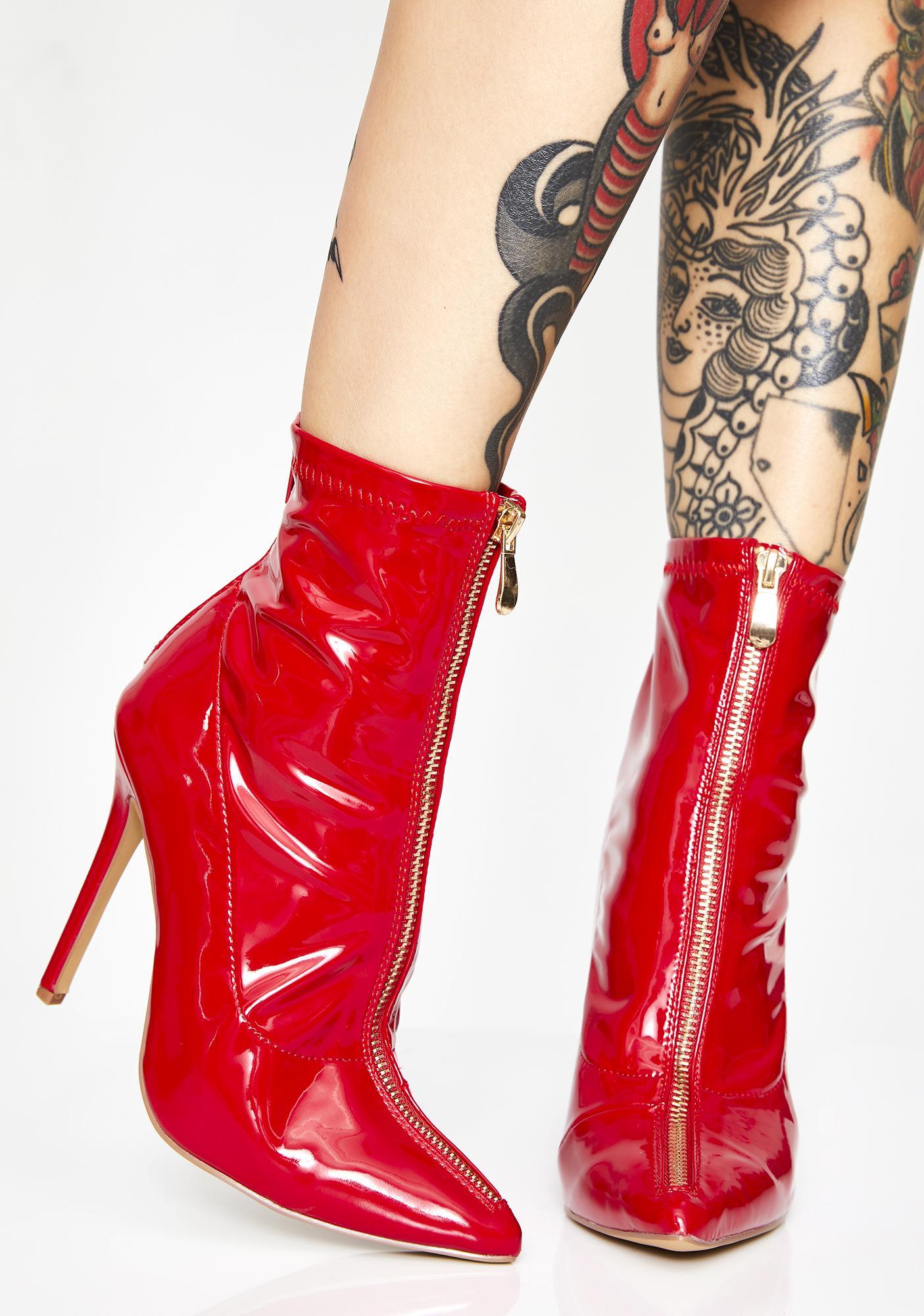 Blazed Bright Lights Patent Boots