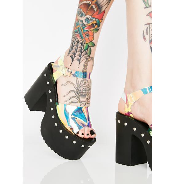 Cosmic Rays Platform Sandals