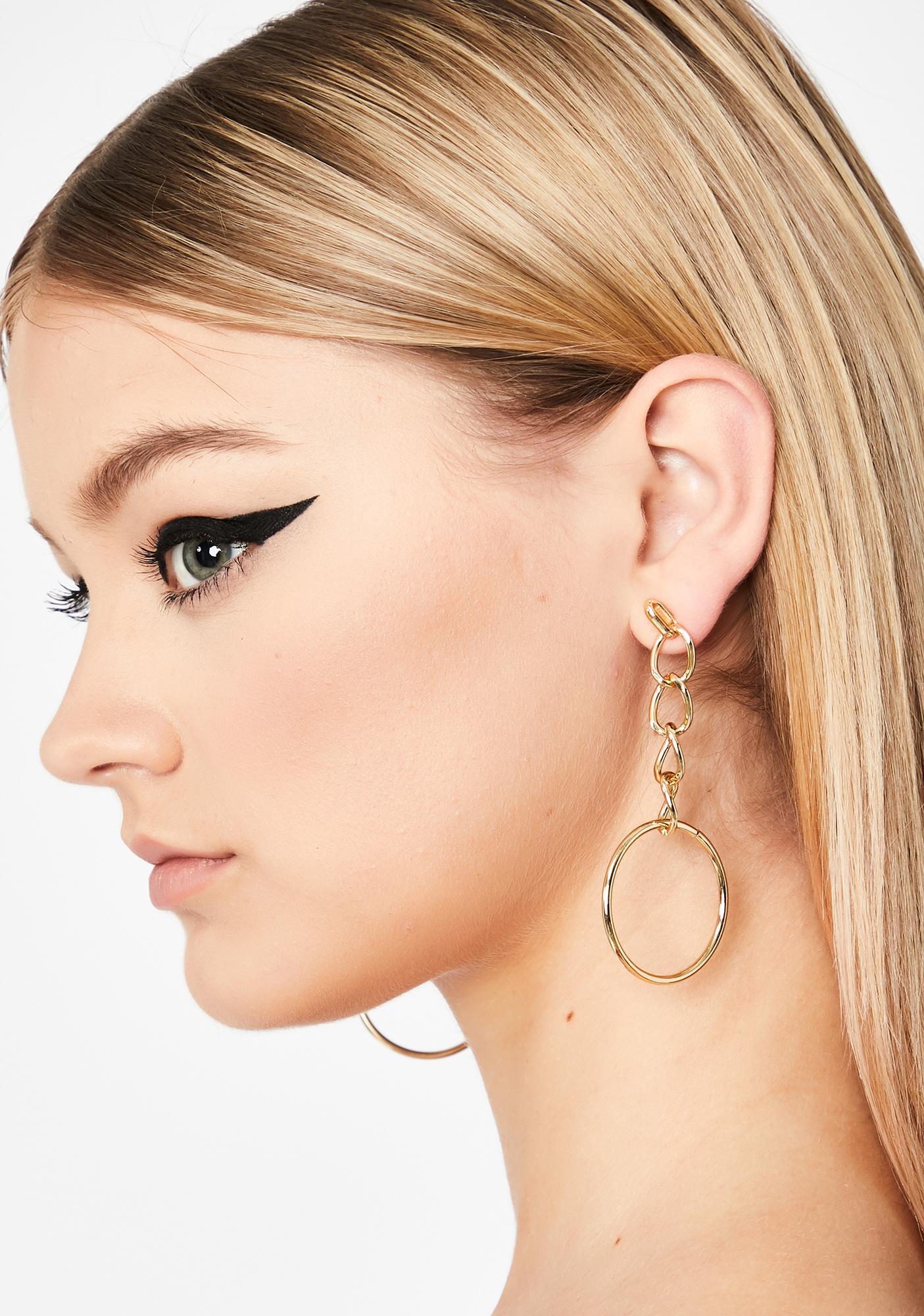 Hangin' Around Chain Earrings