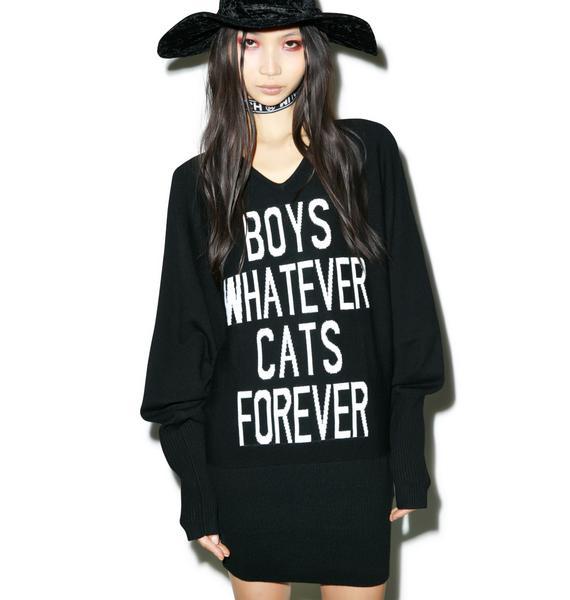 Killstar Boys/Cats Knit Dress
