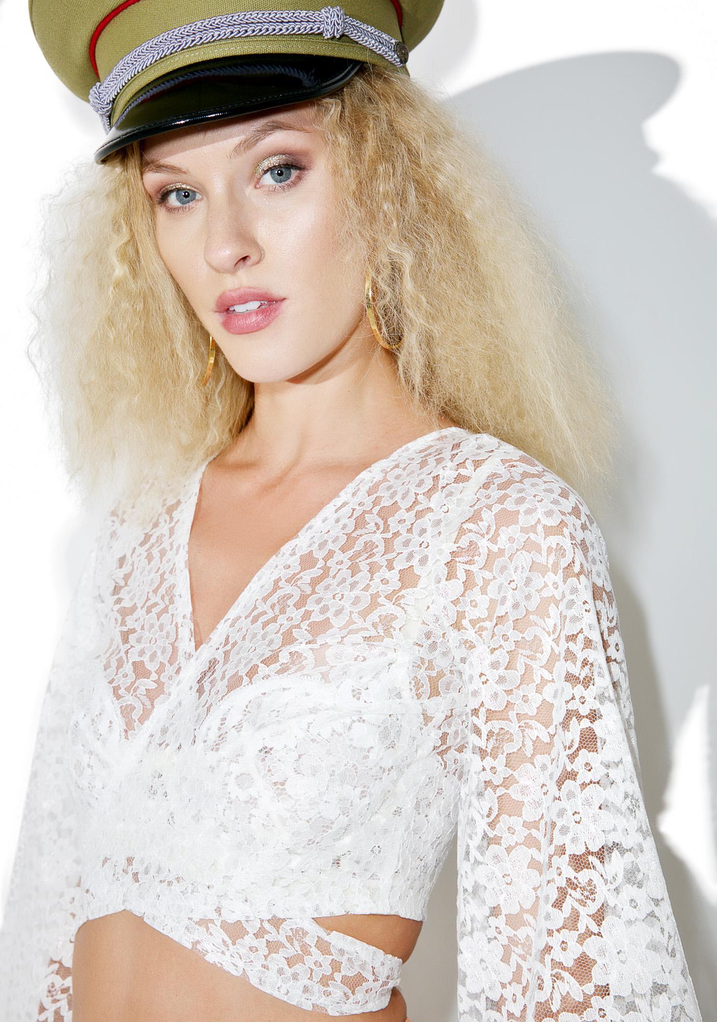 Homecooked Karma Lace Tie Crop Top