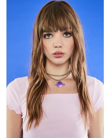 Need Some Space Holographic Necklace