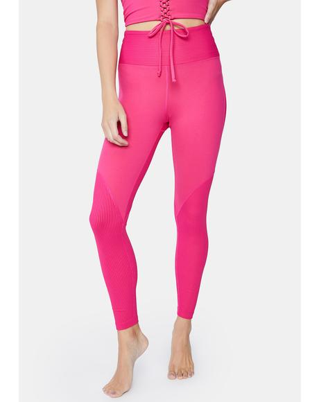 Magenta Teddy Leggings