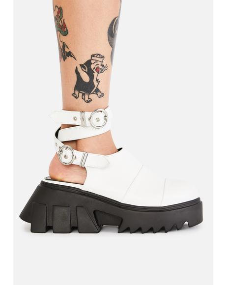 Ivory New Depths Platform Sandals