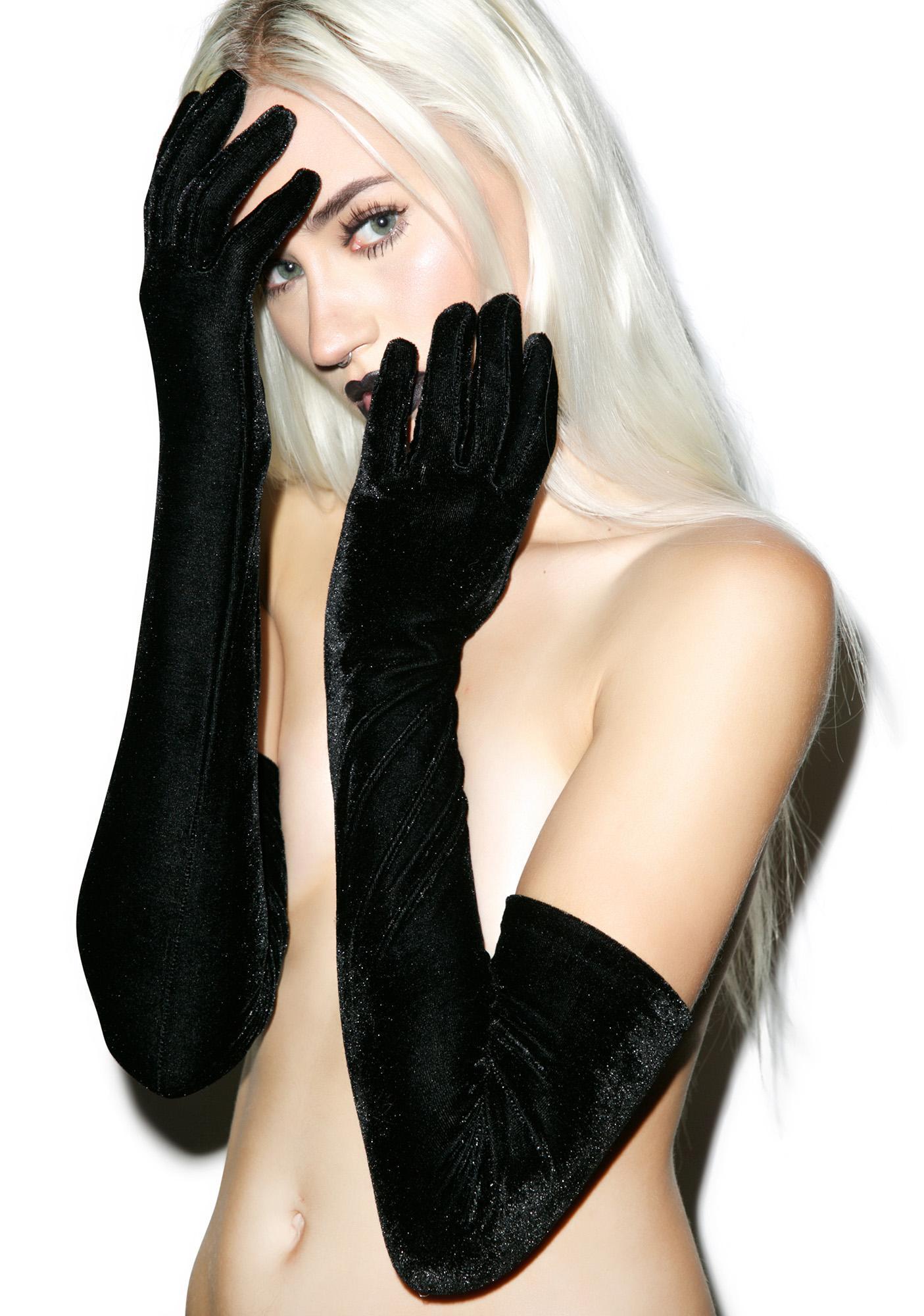 Vicious Velvet Gloves