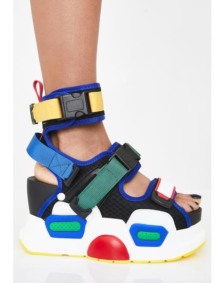 Brilliant Daily Hustle Platform Sandals