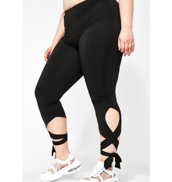 Baddie Baller-ina Wrap Leggings