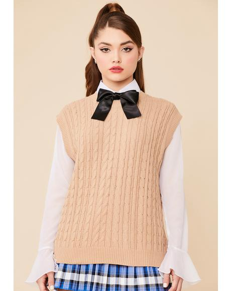 Lunch On The Steps Knit Sweater Vest